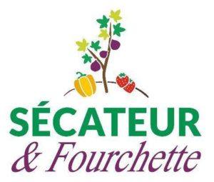 logo sécateur et fourchette