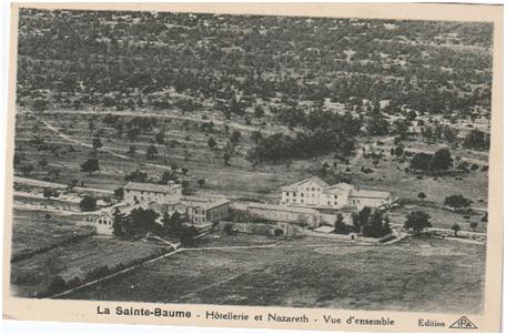 Panorama de l'Hostellerie de la Sainte-Baume et Nazareth.